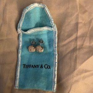 Tiffany sterling silver twist knot earrings